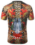 Polyester en gros All Over la pleine impression de T-shirt de sublimation de teinture