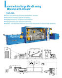 Machine de retrait intermédiaire de câble de fil avec Annealer