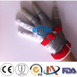 3 doigt Metal Gloves Mesh Safety Gloves avec Stainless Steel Chain Mail