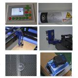 Gravura do papel/couro/madeira/plástico/laser da tela e máquina de estaca
