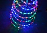 Arbre d'éclairage de corde de spirale de Noël de DEL, arbre de Noël de DEL