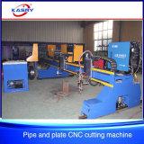 Machine de découpage de commande numérique par ordinateur de portique de plasma de gaz pour la fabrication de plaque de pipe en acier