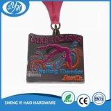 Medaglie personalizzate di maratona dello smalto di disegno di figura dell'uccello