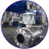 Robinet à tournant sphérique monté par tourillon motorisé de la bride PTFE d'acier inoxydable de robinet à tournant sphérique