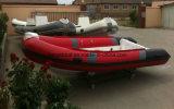 Barco inflável 380 do reforço com a casca da câmara de ar e da fibra de vidro do PVC