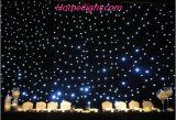 Cortina de la estrella del LED para la etapa de los partidos de boda adornada
