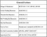 PC 3 2 vávula de bola del API 6D de la pulgada