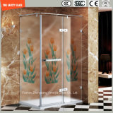 3-19mm Silkscreen-Druck/saure Ätzung/bereift/Muster Safetytempered/Hartglas für Haus, Hotel-Badezimmer/Dusche-Dusche-Bildschirm mit SGCC/Ce&CCC&ISO Bescheinigung