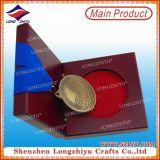 Medaglia su ordinazione del metallo con il contenitore di regalo di legno di caso di visualizzazione da vendere