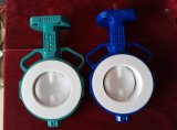 Zwei Shaft Butterfly Valve mit PTFE Lined Disc