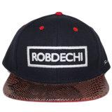 Chapeaux et chapeaux acryliques de Snapback de bord de Snakeskin de la broderie 3D faite sur commande