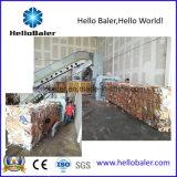 Prensa horizontal para o papel Waste com transporte