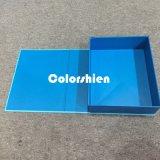 Rectángulo de regalo plegable azul de papel clásico del embalaje de Cosmtic con