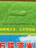 bunter gedruckter pp. gesponnener Beutel des Reis-5kg mit Griff