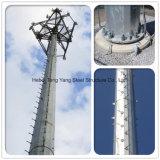 강철 관 자활하는 Monopole 통신 탑