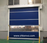 청정실을%s 문이 고속 PVC 직물에 의하여 위로 구른다