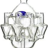 Neuer Filtrierapparat-Wirbelsturm-Schneckenrecycler-rauchendes Wasser-Glasrohr (ES-GB-417)