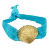 Carcaça Hairbands dos Starfish do Conch nas faixas elásticas do cabelo