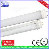 PC + 알루미늄 T8 10W LED 형광등 점화
