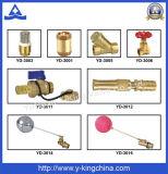Válvula de ángulo de cobre amarillo en abanico (YD-5028)