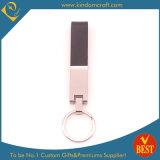Qualitäts-Großverkauf kundenspezifischer Firmenzeichen-Form-Leder-Schlüsselring oder Kette zu Fabrik-Preis