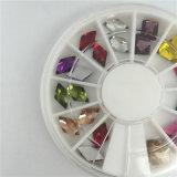 최신 판매 못 예술 훈장 모조 다이아몬드 3D 반짝임 매력 못 주옥 돌 바퀴 DIY 못 보석 부속품