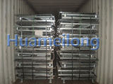 Almacén plegable Pet Preformas Container de malla de alambre
