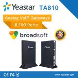 Analoger SIP 4/816 FXS schließt PSTN-Zeile VoIP ATA Kommunikationsrechner an den Port an