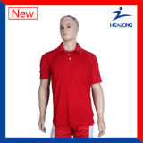 La sublimación modificada para requisitos particulares venta superior de Healong lanza las camisetas de Jersey del polo