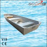 19FT V 맨 위 편평한 바닥 2.0mm 간격 알루미늄 Fishability 배