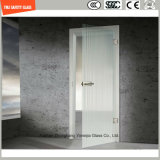 3-19mm Séries de impressão / Acid Etch / Frosted / Padrão Flat / Bent Tempered / Toughened Glass for Door / Window / Shower Door in Hotel and Home