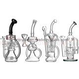 Hb King 2017 New Arrival Wholesale Oil Rigs Glass Bubbler Tabaco Pipe Recycler Beaker Base Glass Smoking Pipe