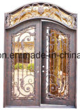 Antike Lichtbogen-Oberseite-Sicherheits-bearbeitetes Eisen-Doppelt-Eingangs-Haustür