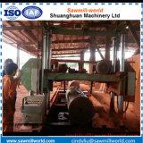 大きいサイズ木製バンド製材所機械水平バンド鋸引き機械