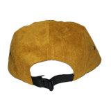 Casquillo tejido venta al por mayor del sombrero del panel del ante 5 de la corrección de la escritura de la etiqueta