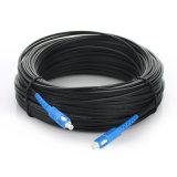 Sc-Sc de la cuerda de corrección de la fibra del cable de GJYXFCH FTTH blanco y color negro opcional