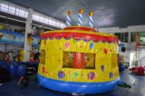 Brithday inflável Cake Bounce Castle para Kids