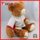 Urso branco da peluche do brinquedo do luxuoso da camisa do luxuoso longo do picovolt