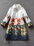Europäische Form-Dame Autumn Floral Lapel Coat