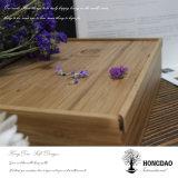 Caja de embalaje de bambú de Hongdao para las herramientas del vino
