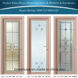 Porte en aluminium de décoration intérieure avec Nice la couleur et les différentes configurations
