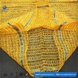 パッキングポテトのための50*80黄色いRaschelの袋