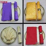 ポリエステルジャカードナプキンは選択のために多数着色する