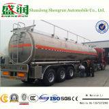 48000L glanzend Aluminium 3 de Aanhangwagen van de Tankwagen van de Brandstof van de As