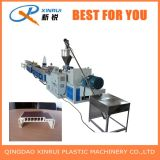 Extrudeuse en plastique en bois en deux étapes de production de PVC WPC faisant la machine