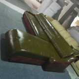 Colore verde L moderna mobilia della casa del sofà del cuoio di figura (C22)
