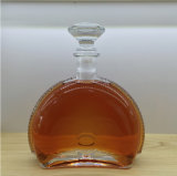 Botella de vino cristalina delicada de la botella de cristal 750ml