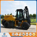 China 3.5ton todo fora do terreno 4W Diesel da estrada que conduz o Forklift