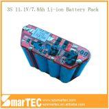 11.1V 7.8ah 18650 Battery Pack 3s3p Li-ion