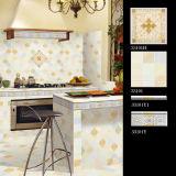 Neuer konzipierter Badezimmer-Küche glasig-glänzender keramischer Fußboden-Wand-Rand und Fliese